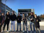 """Die Profilklasse """"Fit.for.Culture und Media mit der 360-Grad-Kamera unterwegs in Dortmund."""